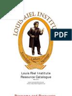 Louis Riel Institute Catalogue 2011