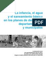 La Infancia, El Agua y El to básico, Principales Planes de Desarrollo Municipales