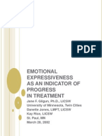 Emotional Expressiveness as an Indicator of Progress in Treatment