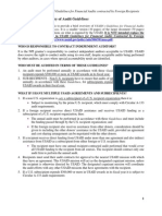 Summary of Guidelines for Financial Audits Contracted by Foreign Recipients