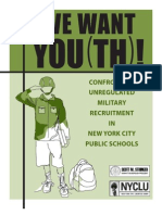 We Want Youth (NYC Military Regs)