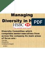 Managing Diversity in HSBC