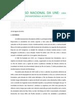 CONGRESSO NACIONAL DA UNE- Uma Guerra Fria Contemporânea acontece- Marcus Vinicius de Oliveira Ribeiro
