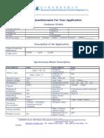 CNYD.M.E Motor Questionnaire-Synchronous