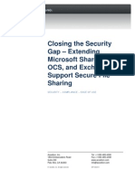 Closing the Security Gap in Share Point OCS Exchange