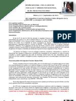 Trayectoria política del c. Fco Jiménez P. CNPA MN Septiembre del 2011