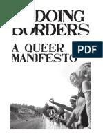 Undoing Borders - A Queer Manifesto