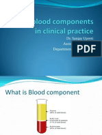 Role of Blood Components in Clinical Practice