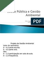 pósSaúde Pública e Gestão Ambiental