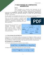 Sintesis y Reactividad de Compuestos Aroma Ti Cos