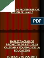Presentacion a La Reforma Estatuto Docente III