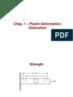 Chap 1- Plastic Deformation Dislocation