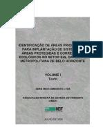 IDENTIFICAÇÃO DE ÁREAS PRIORITÁRIAS PARA IMPLANTAÇÃO DE SISTEMA DE ÁREAS PROTEGIDAS E CORREDORES ECOLÓGICOS NO SETOR SUL DA REGIÃO METROPOLITANA DE BELO HORIZONTE