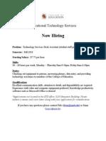 Revised Job Opp Aug 11