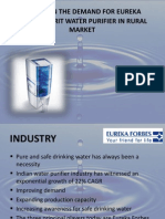 Study on the Demand for Eureka Forbes-Amrit
