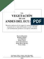 La Vegetacion de Los Andes Del Ecuador