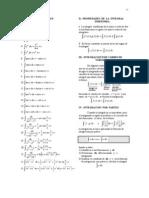 Formulas de Integracion