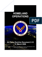 Homeland Operations - Air Force Doctrine Document 2-10
