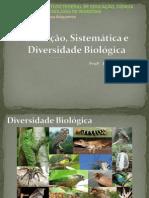 Evolução, Sistemática e Diversidade Biológica - Aula 1
