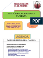 Fx Endocrina de La Placenta.