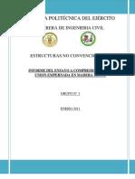 Informe Ensayo Com Pres Ion de Madera Con Pernos