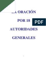 LA ORACION Por 18 des Generales
