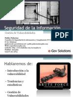 gestiondevulnerabilidades-091203142620-phpapp01