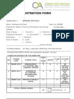 Application for Course Registration Form
