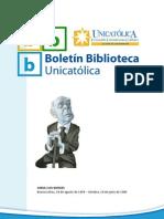 BOLETIN UNICATOLICA