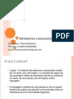 Diferentes linguagens aula 2
