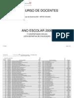 2006_Colocação Grupo de Recrutamento 600 - ARTES VISUAIS