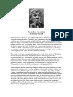 Russell, Bertrand - On Modern Uncertainty
