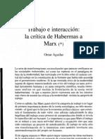 Trabajo e interacción la crítica de Habermas a Marx