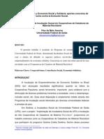 Aspectos práticos de incubação social em cooperativas de catadores de material recilcável