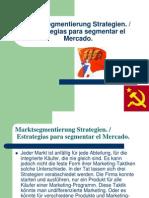 Marktsegmentierung Strategien Alemán