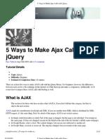 5 Ways to Make Ajax Calls With jQuery _ Nettuts+