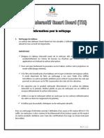 TBI - Infos Pour Le Nettoyage