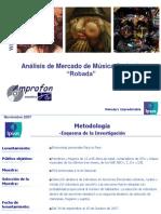 Analisis de Mercado Musica Robada 2007
