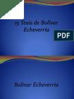 15 Tesis de Bolívar Echeverría