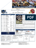 Week 4 - Rams vs. Redskins