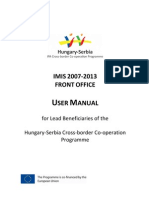 Imis Fo User Manual Husrb