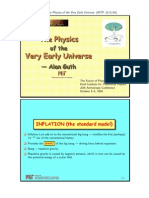 Alan Guth - The Physics of the Very Early Universe