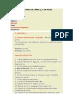 CATEGORÍAS GRAMATICALES EN INGLÉS