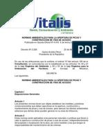 Normas Ambientales para la Apertura de Picas y Construcción de Vías de Acceso