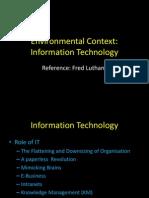 Environmental Context for OB