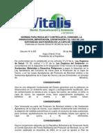 Normas para Regular y Controlar el Consumo, la Producción, importación, Exportación y el uso de las Sustancias Agotadoras de la Capa de Ozono