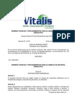 Normas Técnicas y Procedimientos para el Manejo de Material Radiactivo
