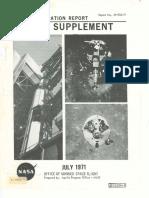 Mission Operaton Report Apollo Supplement July 1971