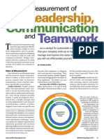 Leadership, Comunication and Teamwork