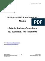 Indice - Guía Accion Preventiva - Rev. 0 - Mayo-2011